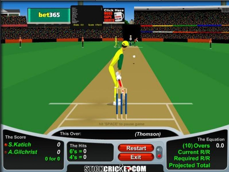 Cricket flash games.