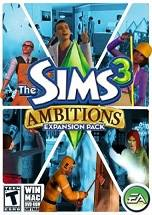 The Sims 3 Ambitions dvd cover