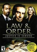 Law & Order: Justice Is Served dvd cover