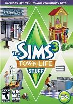 The Sims 3: Town Life Stuff dvd cover