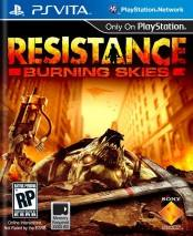 Resistance: Burning Skies dvd cover