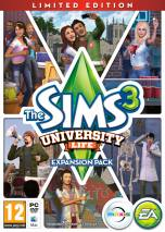 The Sims 3: University Life dvd cover