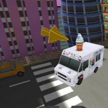 Ice Cream truck parking 3D dvd cover