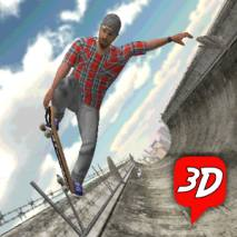 101 Skateboard Racing 3D dvd cover