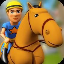 Cartoon Horse Riding dvd cover
