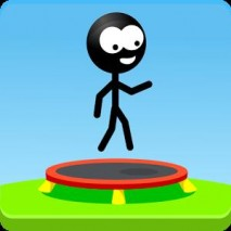 Trampoline Man (Stickman Game) Cover