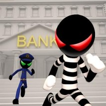 Stickman Bank Robbery Escape dvd cover