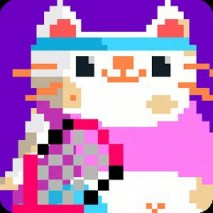 Candy Cat Tennis: 8 bit bash Cover